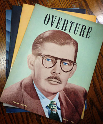 Overture Cover from April 1953