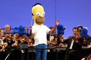 The Hollywood Bowl Orchestra performs under the baton of Homer Simpson (aka Principal Conductor Thomas Wilkins). Photo by Matthew Imaging.