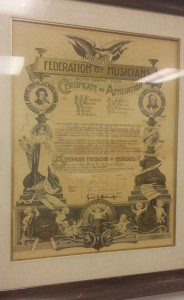 Local 47's charter of affiliation, 1897