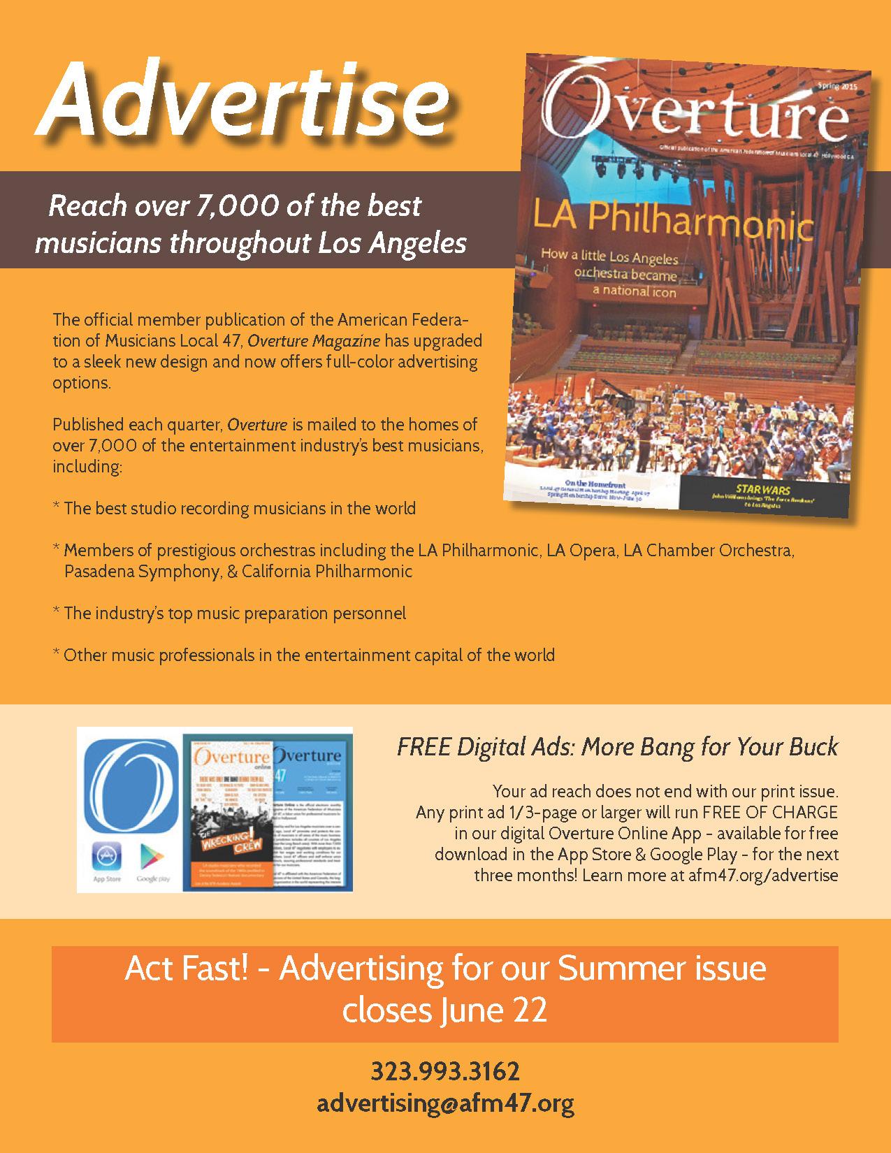 Overture Ad Summer 2015 flyer