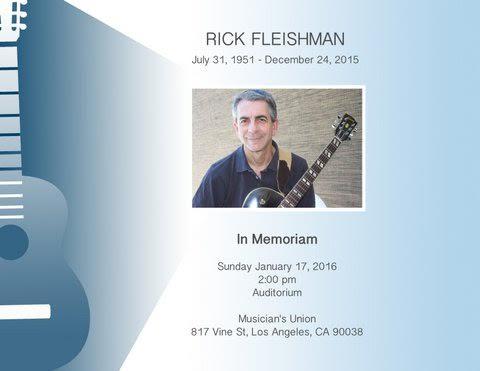 Rick Fleishman memorial
