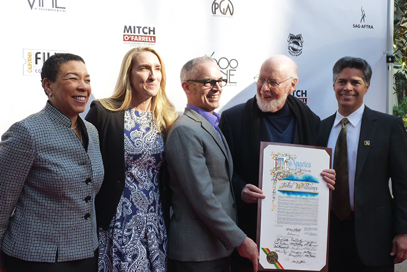 "Renowned composer, Local 47 member John Williams was honored at the 2016 Made in Hollywood Honors event for his works including the locally scored ""Star Wars: The Force Awakens."" (Photo by Linda A. Rapka/AFM Local 47)"