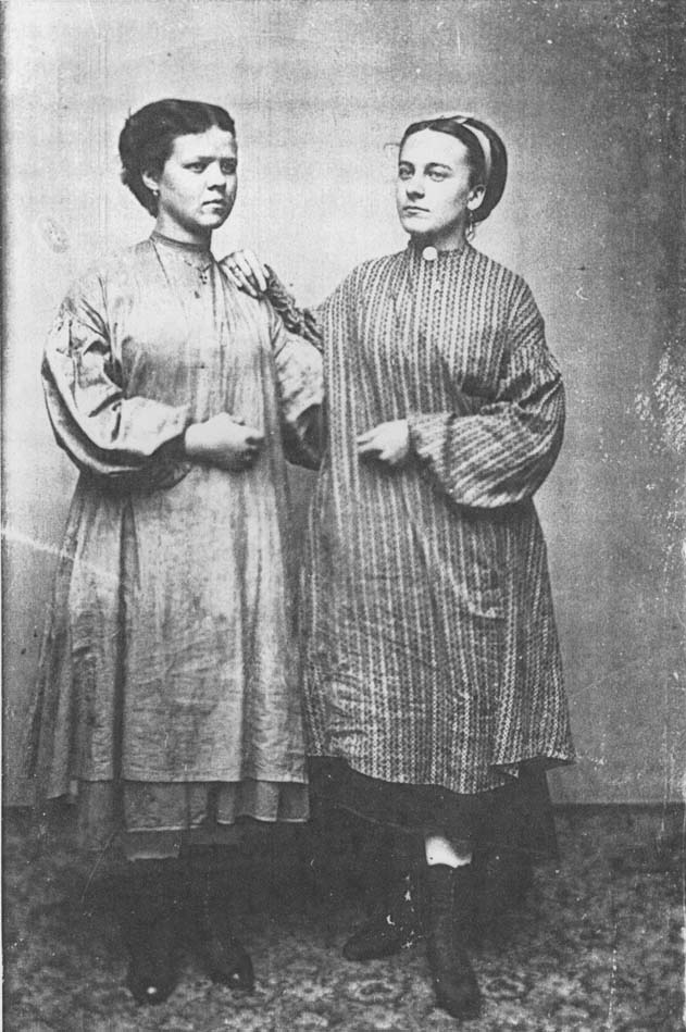Tintype of two young women in Lowell, Massachusetts, circa 1870. (Public Domain. Source: Center for Lowell History, University of Massachusetts Lowell Libraries)