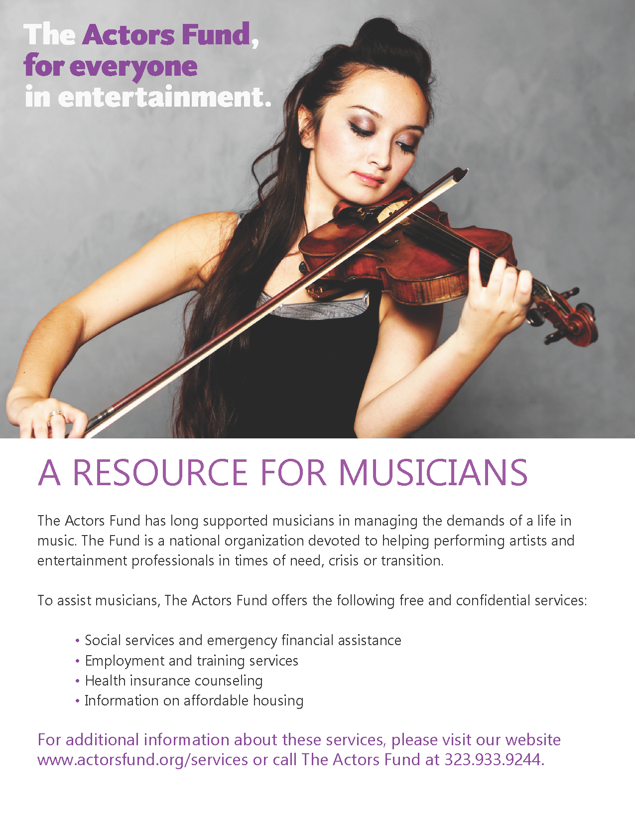 The Actors Fund - A Resource for Musicians 2