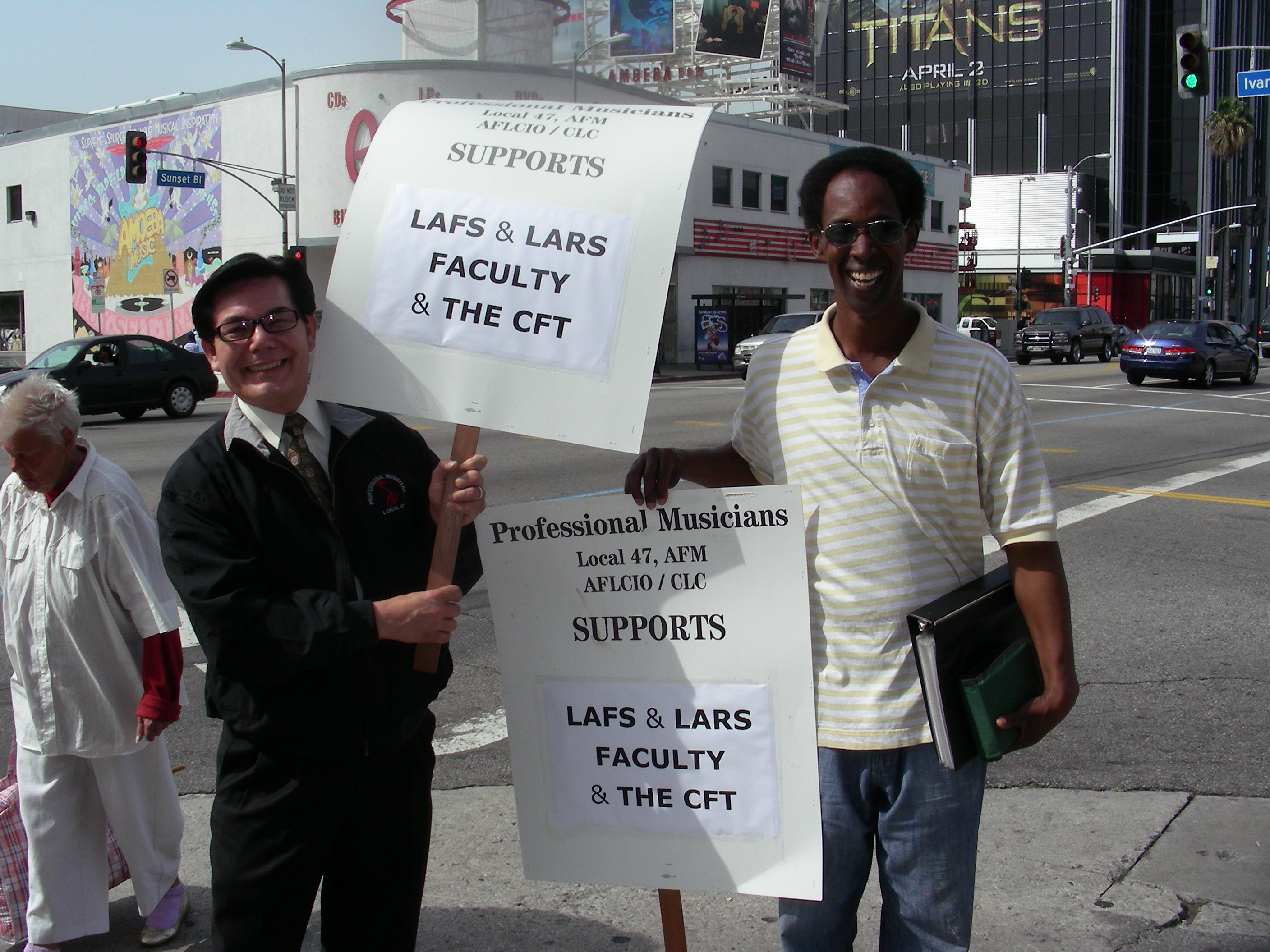 CA Federation of Teachers rally, Hollywood, March 23, 2015 (Overture archives/Leslie Lashinsky)