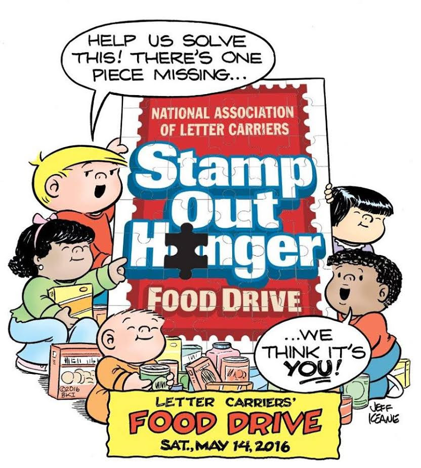 food drive puzzle poster