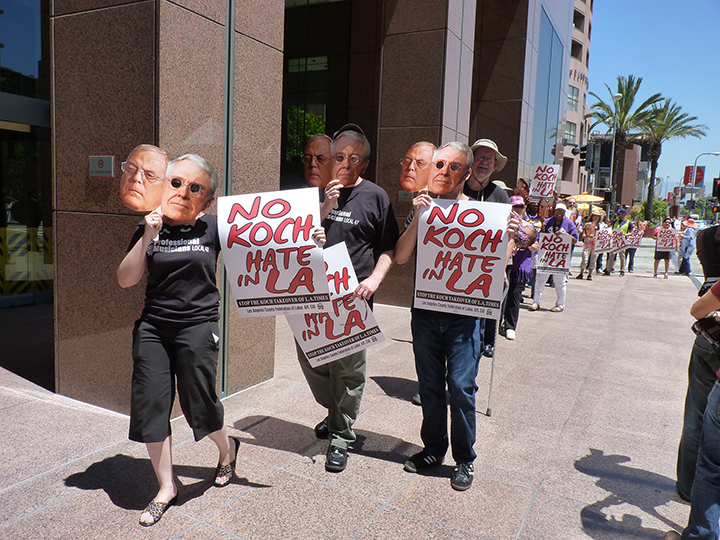 Koch Brothers rally in Los Angeles, May 14, 2013 (Overture archives/Kori Chappell)