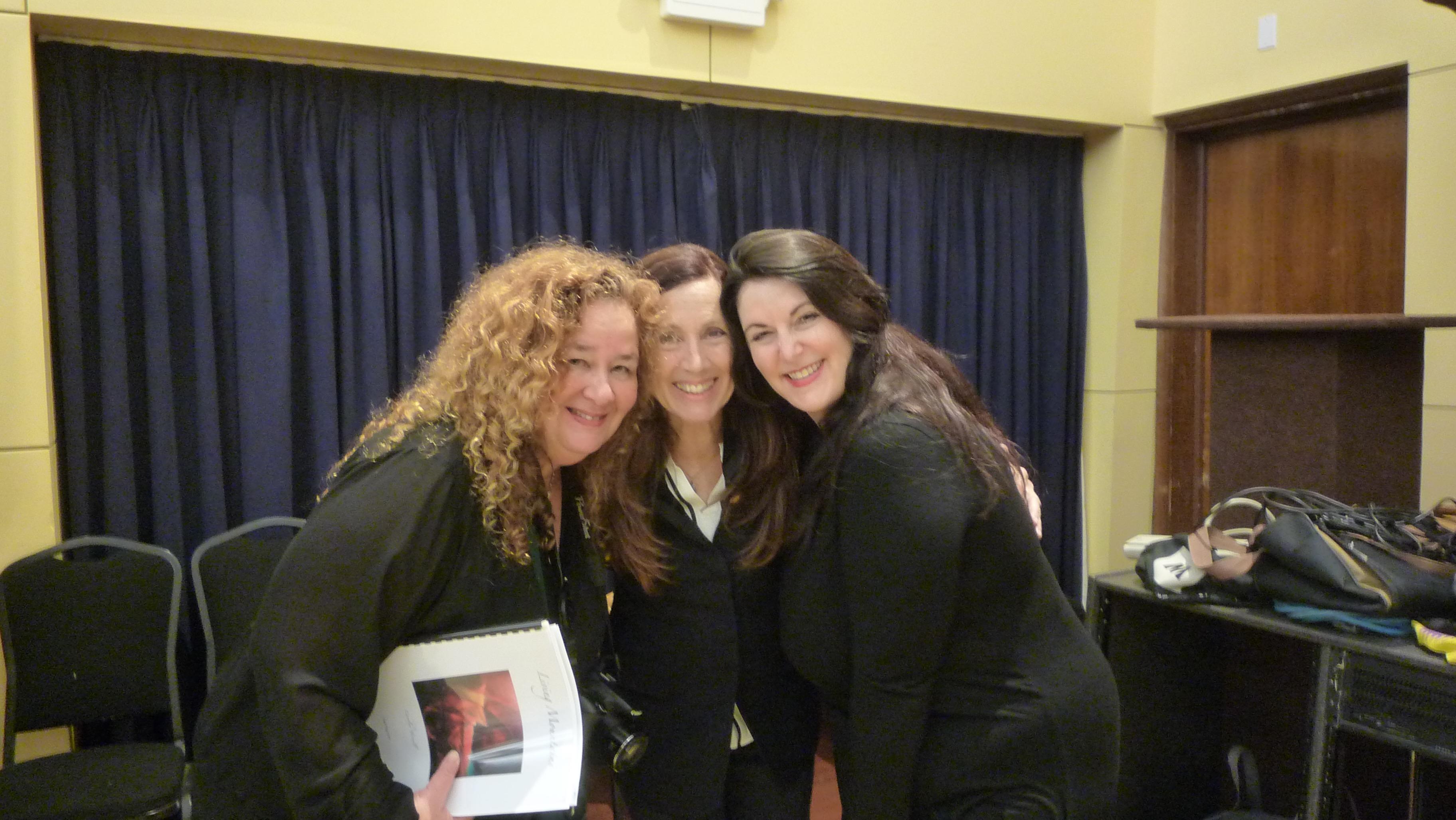 Marlene Hajdu, Elise Michelle, and Carolyn Yarnell.