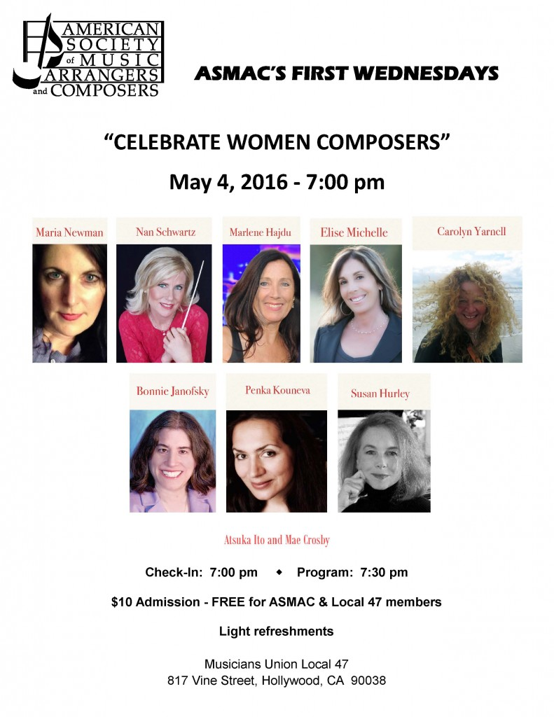 Celebrate Women Composers Flyer