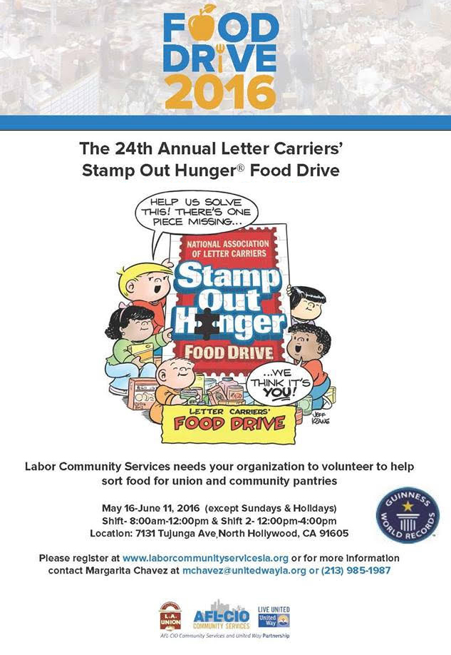 food drive need volunteers