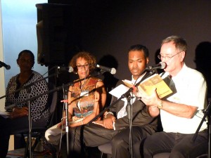 Guest panelists included former members and family of Local 767 and a jazz historian from UCLA.