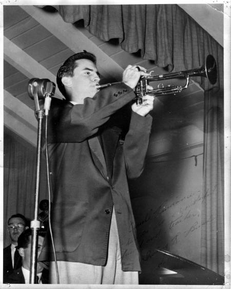 Irving Bush playing trumpet circa 1952 prior to his tenure with the L.A. Philharmonic.