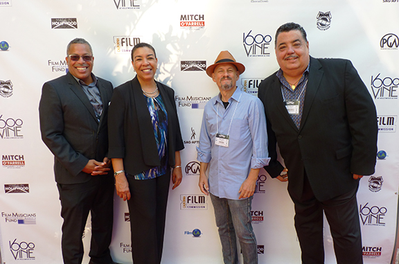 Made In Hollywood Honors Television 2016 took place at 1600 Vine the morning of Sept. 7, 2016 - AFM Local 47 EMD Administrator Gordon Grayson, Film Musicians Secondary Markets Fund Executive Director Kim Roberts Hedgpeth, Recording Musicians Association International President Marc Sazer, AFM Local 47 Vice President Rick Baptist. (Not pictured: AFM Local 47 Secretary/Treasurer Gary Lasley)
