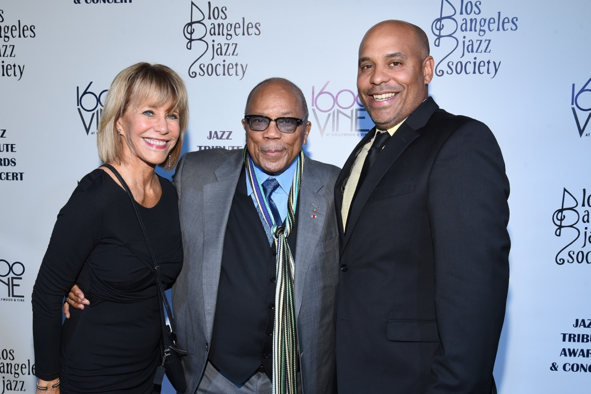 All photos courtesy of LA Jazz Society AFM Local 47 Director Pam Gates, legendary Life Member Quincy Jones, and President John Acosta at the LA Jazz Society Jazz Tribute Awards Concert on Nov. 19, 2016.