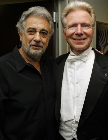 Plácido Domingo and Maestro John Mauceri