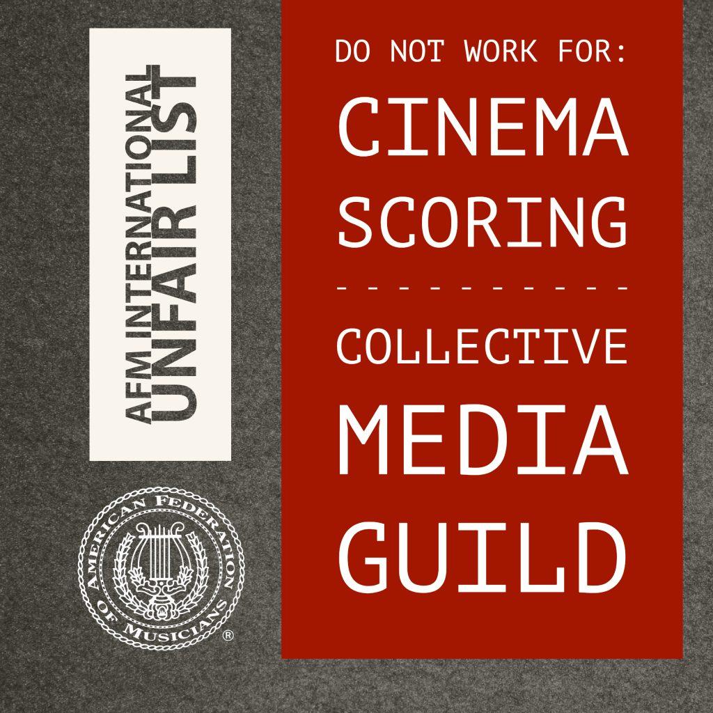 Cinema Scoring, Collective Media Guild added to AFM