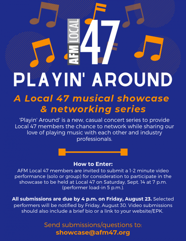 Playin' Around: A Local 47 Showcase & Networking Series - 47 Blog